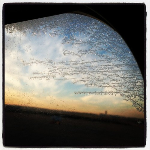 Frosty airplane window. Later #nashville .