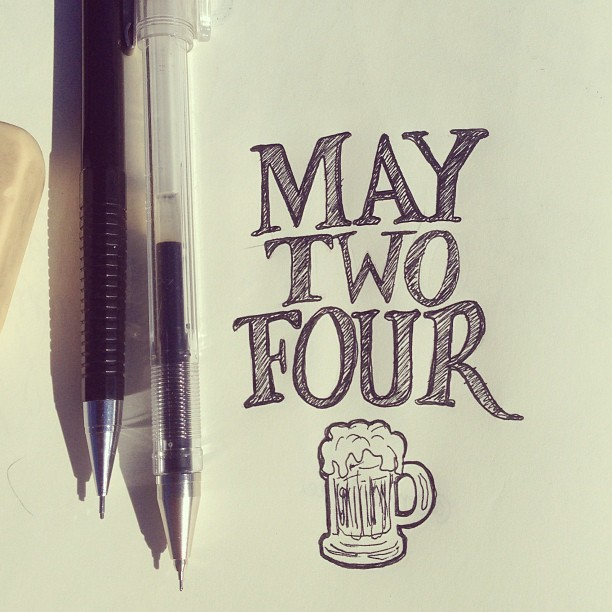 happy may two four. #sketch #lettering #handlettering #handmadetype #art #quotes #words #moleskine #drawing #ink #illustration