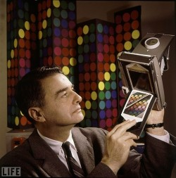 photojojo:  Happy Birthday, Edwin Land! You invented the Polaroid, inspired innovators like Steve Jobs, and made real life magic happen. Photo via LIFE