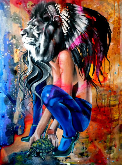 "Cool Art: The Indian King & The Green Scarpinos Painting by Sandra Chevrier. Conveyer Of Cool ""Stay COOL"" Tumblr 