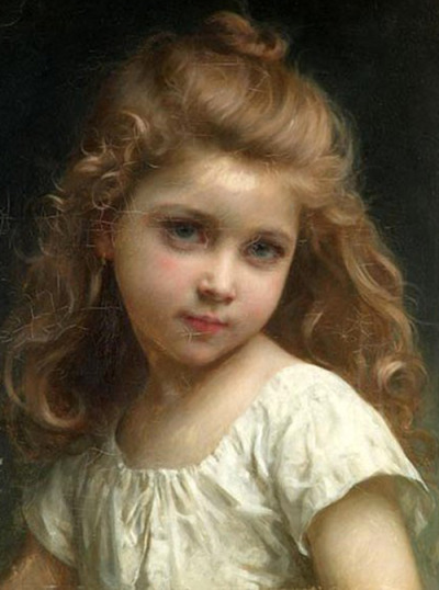 c0ssette:  Portrait of a Young Girl by Jules-Cyrille Cavé (1859 – 1940, French)
