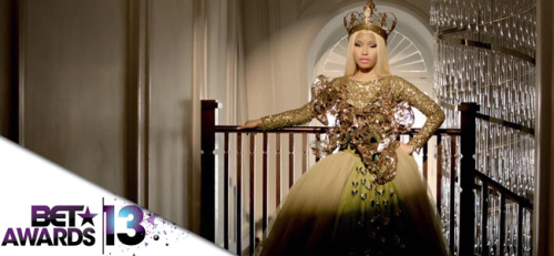 @NICKIMINAJ has been nominated for — Best Female Hip-Hop Artist! This is the FOURTH time that Nicki has been nominted in this category. She's also won in this category for the past THREE consecutive years (2010, 2011, 2012). The BET Awards will air live from Nokia Theater L.A., June 30 at 8pm EST.