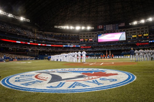 National Anthem from last night's @BlueJays game. #LoveThisTeam