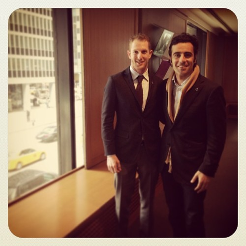 IndyCar's Dario Franchitti and Charlie Kimball stopped by the Men's Journal office to talk favorite steak houses, drives, and cars.
