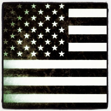 Star Spangled Banner in Black & White…My flag!