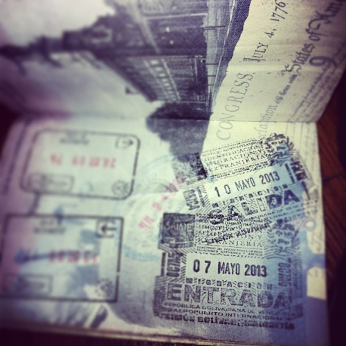 stamps on stamps on stamps on stamps #passport #travelingchelse #venezuela #switzerland