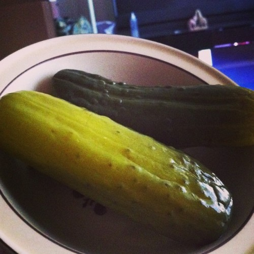 Just a nice pickle snack.