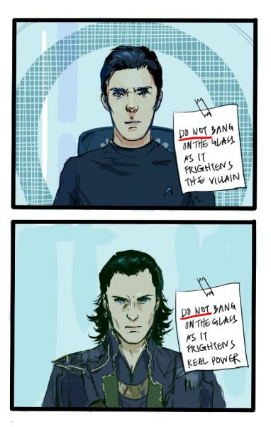 bilbos-buttons:  goddess-of-mischief-from-221b:  mountain-ash007:  perlockholmes:  deducemysoul:  just put all villains in the glass cell  if I can't bang on the glass, can I bang the villain?  if I can't bang on the glass, can I bang the villain?    AHAHAHAHAHAHAHAHAHAHAHHA