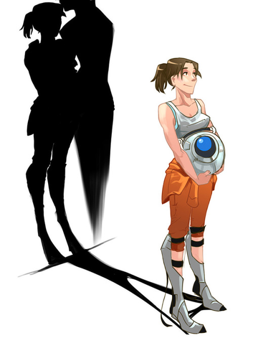 c4rc1nog3n3s1s:  portal2 Shadow lover by ~biggreenpepper