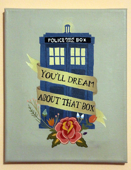 Dream about travelling the universe in the TARDIS…where nightmares come true.  springsdandelion:  Brand new and ancient, and the bluest blue ever.  (finally finished)