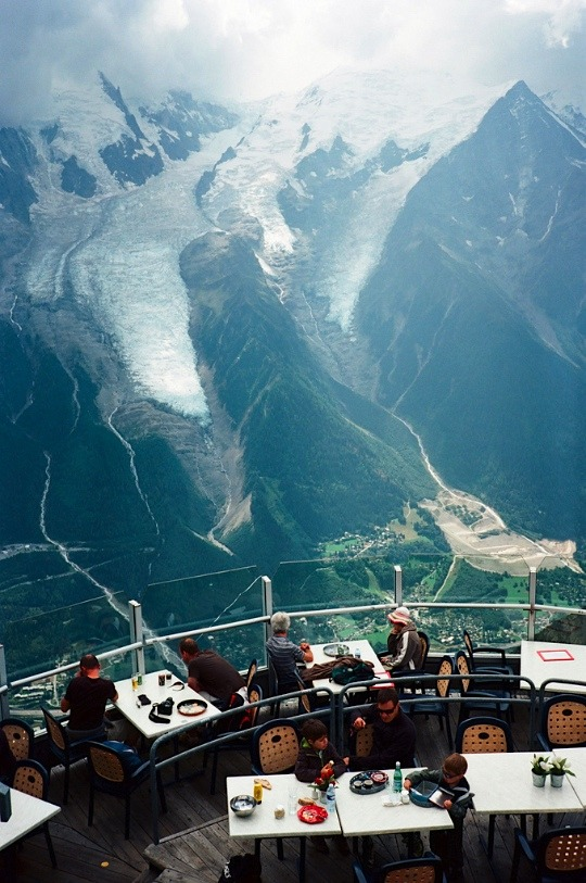 | ♕ |  Observation deck at Chamonix, French Alps  | by © Lu Chien-Ping