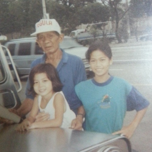 My most favorite lolo. i miss you.. also with my sis isca. :) #tbt #throwback