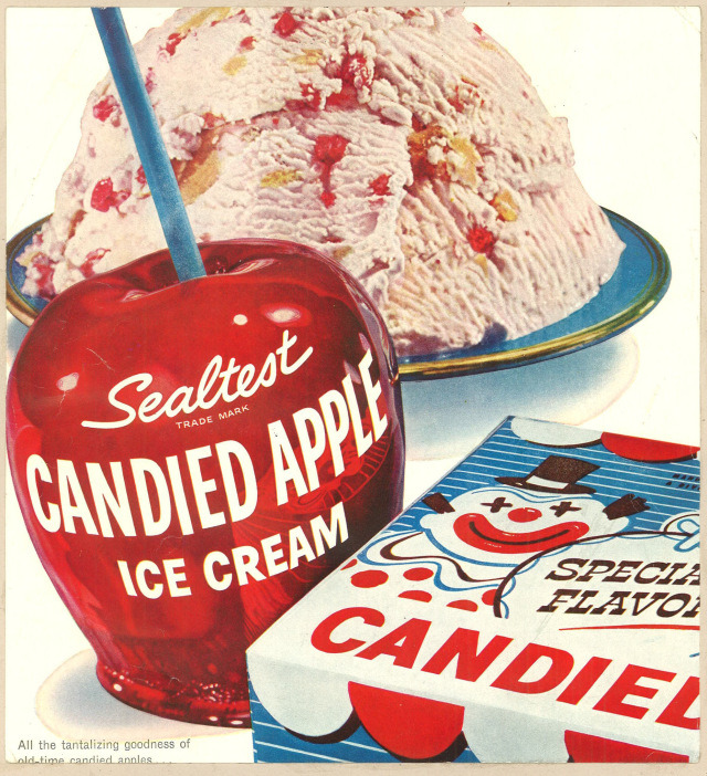 elevenacres:  Sealtest Candied Apple Ice Cream. 1956