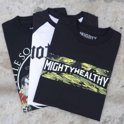 Mighty Healthy Summer T-Shirts Part 2 ~ Available in selected stores and online now ~ Sizes range from S - XL, priced at £30 #size #mightyhealthy @mightyhealthyny #tshirt #summer #sizehq  (at www.size.co.uk)