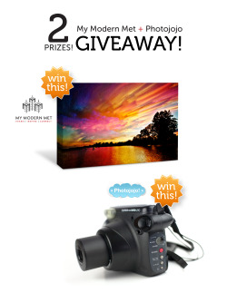 Win an Instax 210 Camera and a canvas print of original artwork by artists in My Modern MET's My Modern Shop! We've teamed up to giveaway a prize for those of you who appreciate art and make it, too. To enter: 1) Like Photojojo and MyModernMET's Facebook Pages 2) Leave a comment on this post telling us which art piece you want! Win an Instax 210 Camera and a Canvas Print from MyModernMET