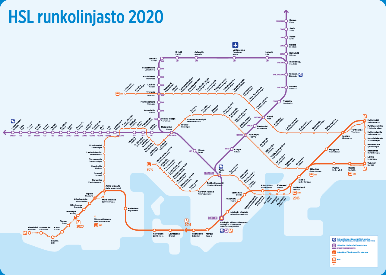 Helsinki Subway Map