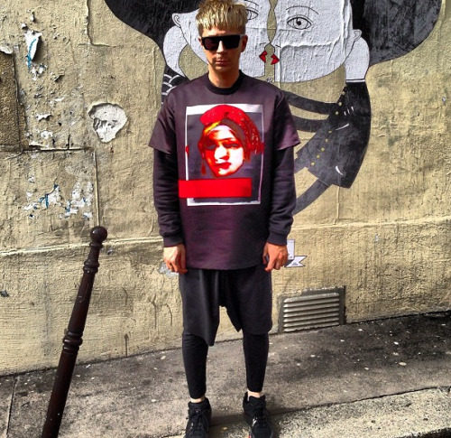 @KyleEditor Kyle Anderson at Paris Fashion Week wearing Givenchy