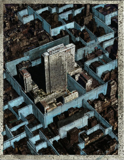 nickkahler:  Jeff Konigsberg, Drawings for Manhattan: City States #4, 2013 (via archreview)