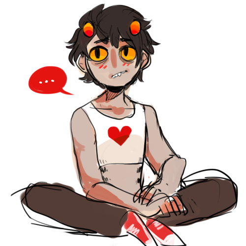 xrnoodle:headcanon: karkat has tonnes of rlly cute binders and they all look bamf