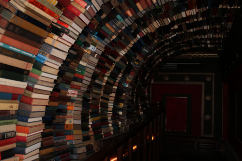 bookmania:  The enigmatic book tunnel at The Last Bookstore, Los Angeles. (Photo by cc.tran)  Awesome!