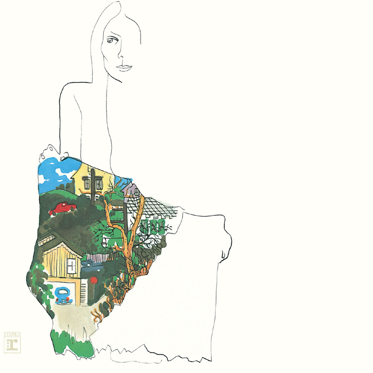 Joni Mitchell 'Ladies of the Canyon', Reprise, 1970. Cover artwork by Joni Mitchell.