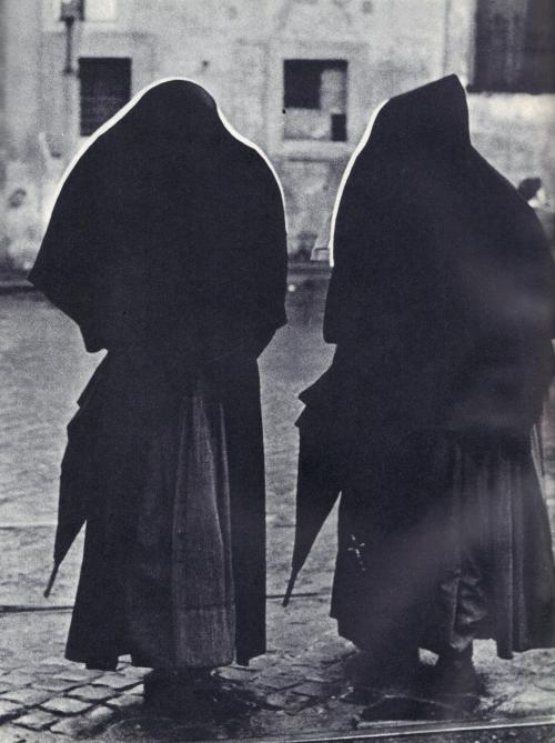 Sunday Nunday … double your pleasure … double your nun … Paul-Nils Nilsson - Two Nuns. … from Photography Annual, 1954 Edition. A Selection of the World's Greatest Photographs by the Editors of Photography magazine.