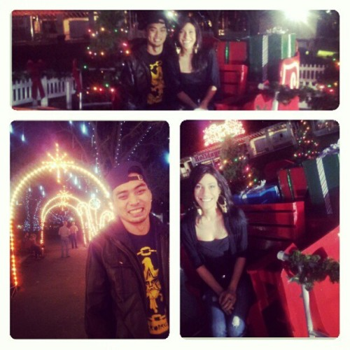 Boyfriend and I went to see the Christmas lights! #christmas #lights.#boyfriend #theburg #downtown #saintpete #santa #sleigh #lights