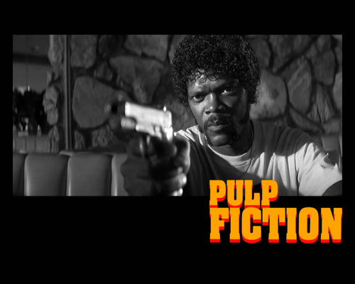"PULP FICTION Jules: I'm not giving you that money. I'm buying something from you. Wanna know what I'm buyin' Ringo?  Pumpkin: What?  Jules: Your life. I'm givin' you that money so I don't have to kill your ass. You read the Bible?  Pumpkin: Not regularly.  Jules: There's a passage I got memorized. Ezekiel 25:17. ""The path of the righteous man is beset on all sides by the inequities of the selfish and the tyranny of evil men. Blessed is he who, in the name of charity and good will, shepherds the weak through the valley of the darkness, for he is truly his brother's keeper and the finder of lost children. And I will strike down upon thee with great vengeance and furious anger those who attempt to poison and destroy My brothers. And you will know I am the Lord when I lay My vengeance upon you."" Now… I been sayin' that shit for years. And if you ever heard it, that meant your ass. You'd be dead right now. I never gave much thought to what it meant. I just thought it was a cold-blooded thing to say to a motherfucker before I popped a cap in his ass. But I saw some shit this mornin' made me think twice. See, now I'm thinking: maybe it means you're the evil man. And I'm the righteous man. And Mr. 9mm here… he's the shepherd protecting my righteous ass in the valley of darkness. Or it could mean you're the righteous man and I'm the shepherd and it's the world that's evil and selfish. And I'd like that. But that shit ain't the truth. The truth is you're the weak. And I'm the tyranny of evil men. But I'm tryin', Ringo. I'm tryin' real hard to be the shepherd."