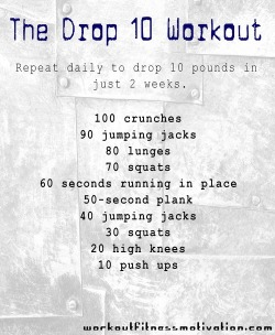alwaysilsy:  Health / the drop 10 workout on We Heart It - http://weheartit.com/entry/62202234/via/alwaysilsy   Hearted from: http://m.pinterest.com/pin/101190322849445233/