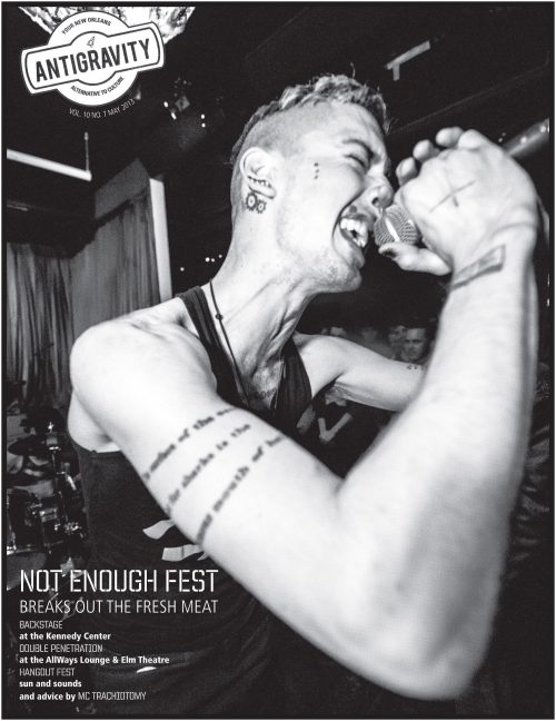 "dziga:  nomorefiction:    We are very honored to have Not Enough Fest Nola featured on the cover of Antigravity, our local alternative music monthly.  At the same time, the cover choice and some of the commentary within the article are problematic and need to be addressed.  Look for a statement from No More Fiction online and hopefully in the next issue of Antigravity.    I'm super happy to see NMF and a lot of other folks upset about Anti-Gravity's coverage of Not Enough Fest. I think putting me alone on the cover of the magazine to promote a festival specifically aimed towards visibilizing and supporting women musicians in New Orleans is problematic and misguided. As one of the only male-socialized queers playing in the festival, an image of me does not represent the awesome ladies and lady-socialized queers who put so much effort into setting up, promoting and playing in that show. It is, however, another easily digestable image which, to the general AG reader, is just another weird looking white dude screaming into a microphone. This is not an underrepresented population within punk music and I was hoping Anti-Gravity would take the cue from NEF organizers and help us by creating visible and affirming coverage of women and female-socialized queers making rad-ass music.  I also think the article itself is rife with the kind of inane and misguided bullshit that is the root of the need for events like Not Enough Fest. All that being said, one magazine's flawed coverage doesnt erase the fact that the festival was an amazing success thanks to the hard work of the ladies and queers who organized and played it.   I love the person who is featured on this cover very much but I agree that this is not the representation that Not Enough Fest deserves.  Also, can we please note that the tag line is NOT ENOUGH FEST ""breaks out the fresh meat""???? Fresh meat? Not okay, Antigravity. These ladies and queers are not steaks for you to snack on.  Dziga, this photo shouldn't represent Not Enough Fest, but you are a babe and I really like what you wrote about the subject. xoxoxo erin"