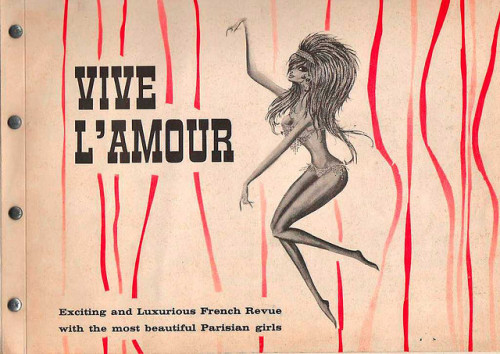 Vive L'amour Promotional Booklet (1960s)