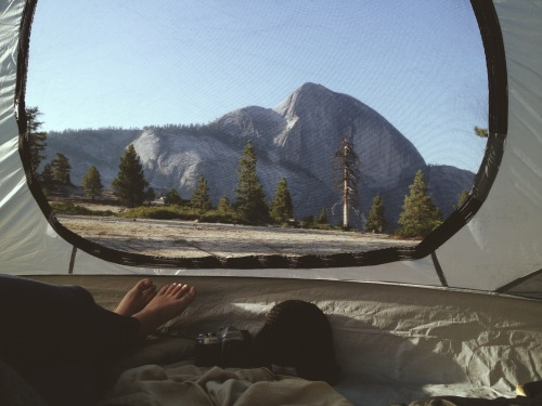 cosmicroots:  The most gratifying thing to wake up to after backpacking up a strenuous 2700 ft elevation gain.