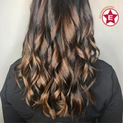 Natural waves on this deep brown toned balayage by Steph || #milwaukeestylist #modernsalon #hairgoals #establishmentwi #avedacolor #brownhair #balayage #hairinspo (at The Establishment Salon)