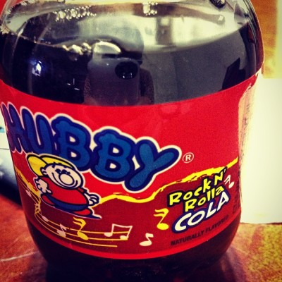 Chubby rock n rolla cola.   25 cent soda I bought today. 😻
