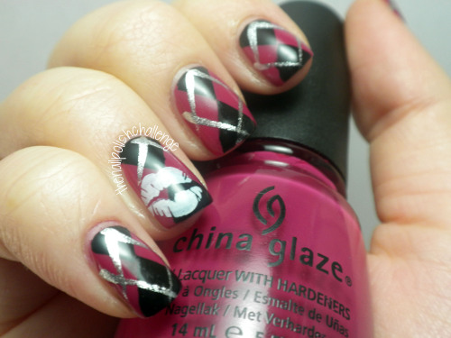 thenailpolishchallenge:  Valentine's Day manicure? Or is it too… slutty? Let me know what you think on my blog post.
