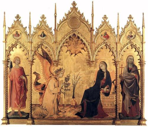 Simone Martini, The Annunciation with St. Margaret and St. Ansanus, 1333