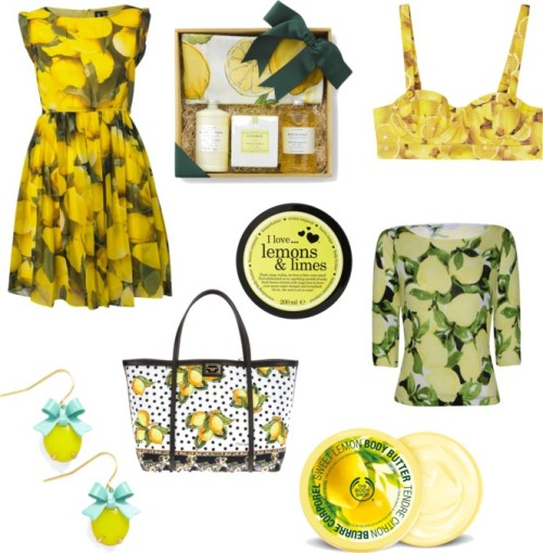 Lemon pring por streetstyle con the body shopPrint dress$43 - houseoffraser.co.ukMinuet Petite petite sweater$90 - houseoffraser.co.ukAlice olivia$330 - harveynichols.comDolce Gabbana print tote bagfarfetch.comPlastic jewelrymodcloth.comThe body shopthebodyshop-usa.comI Love body moisturizer$12 - nelly.comMeyer Lemon Caldrea Gift Setwilliams-sonoma.com