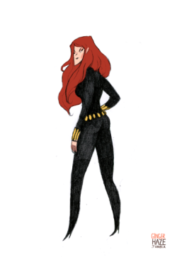 gingerhaze:  I went on a Marvel Babe drawing spree in class today…