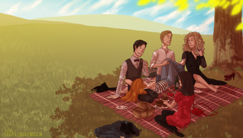oddthesungod:  picnics are fun (◡‿◡✿)