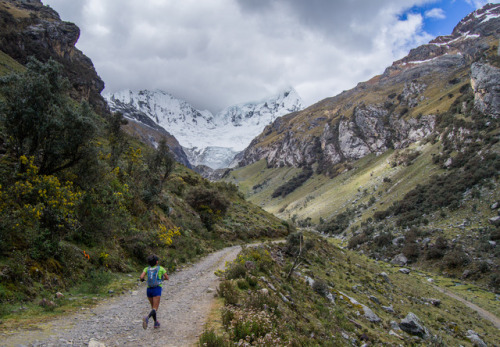 A runner strides through an Andean adventure at the Calls Ultra Trail Cordillera Blanca in Peru.Photo: Han Cordova