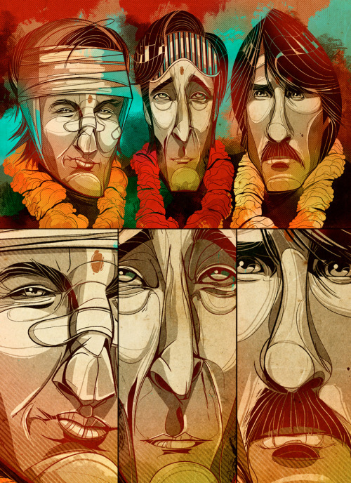 selectedillustrations:  The Darjeeling Limited by César Moreno