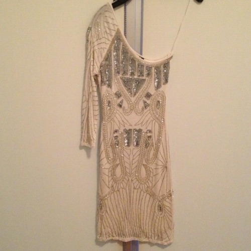 I just added this to my closet on Poshmark: Topshop one shoulder beaded dress. (http://bit.ly/13ldpmy) #poshmark #fashion #shopping #shopmycloset