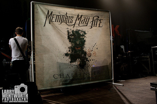 larrywentworthphoto:  Memphis May Fire-1 on Flickr. Via Flickr: | Website | Facebook | Email Me | Memphis May Fire 12/08/12 Worcester Palladium  Holy notes.