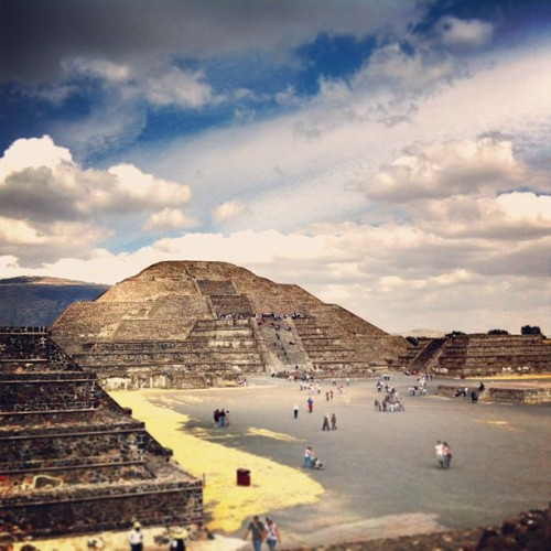 luxehotelier:  The Pyramid of the Moon, possibly completed circa 250 AD, is a structure of seven pyramids built on top of each other. Origin, builders and significance remain shrouded in mystery. First discovered by the Aztecs in 1500 AD. Teotihuacan (The Place of the Gods), Mexico.