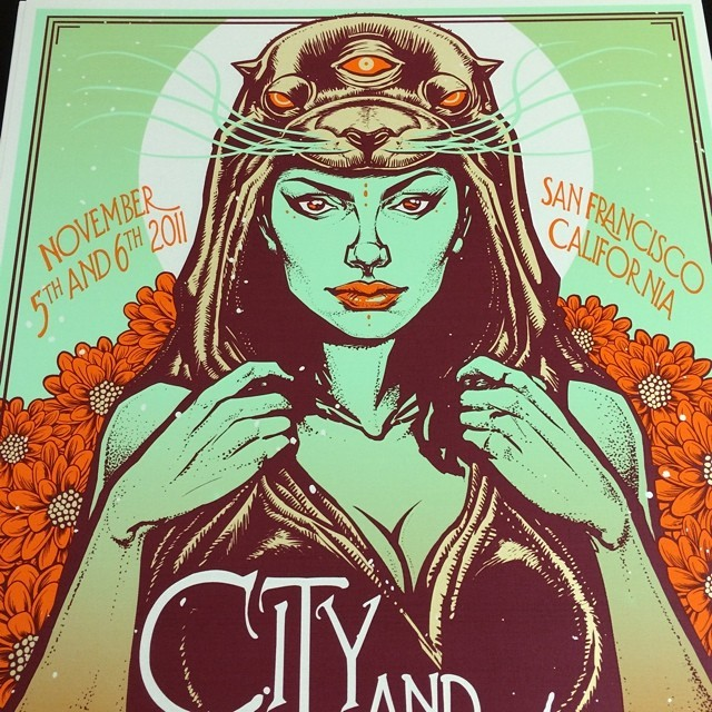 The sea lions in S.F definitely came to mind while working on this print. #ilovesthem #SanFrancisco #art by #munk_one