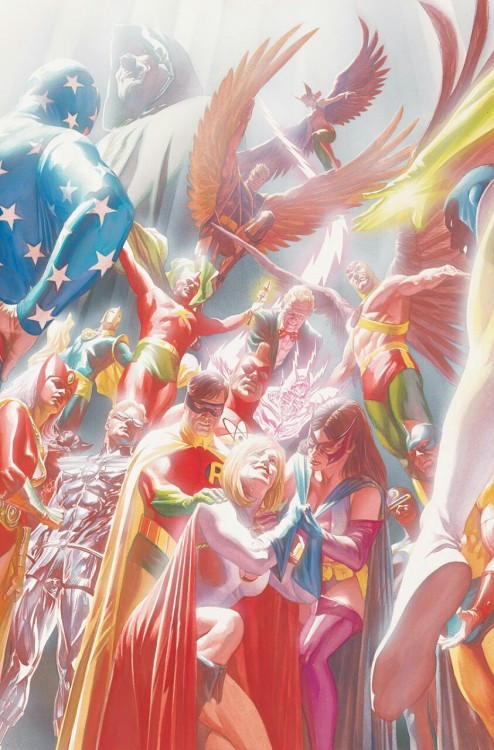 jsarevisited:  Still one of the best images of the JSA by Alex Ross.  Indeed