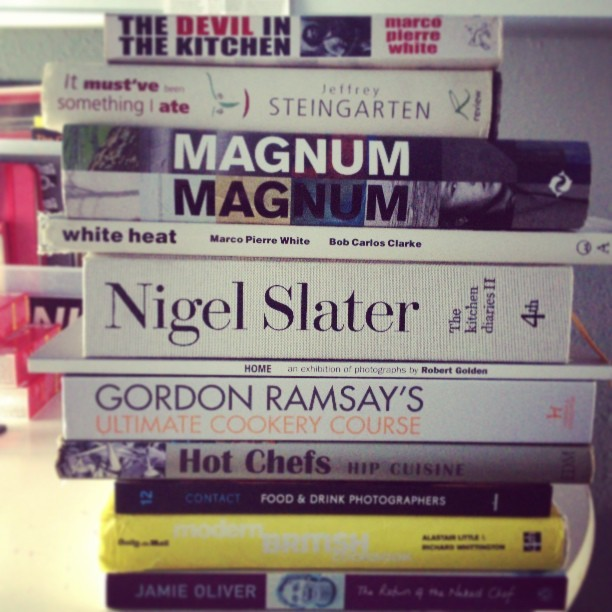 This months purchases.  #books #photography #food #cookery #chefs #magnum #bobcarlosclarke #legends #research #fotocoupe