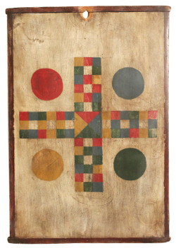 Parcheesi game board. Found here.
