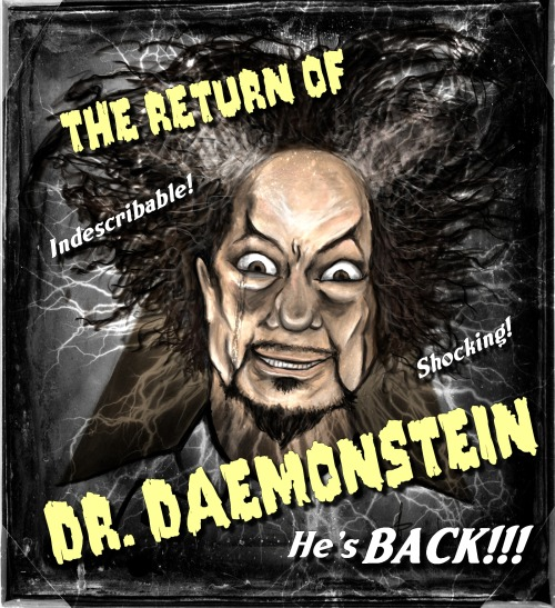 …and the old-timey horror poster version of this caricature was inevitable.