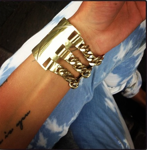 nylonn:  Sass and bide bracelet, Isabel Marant jeans / taken from Instagram/ Follow @rushhhhhh x